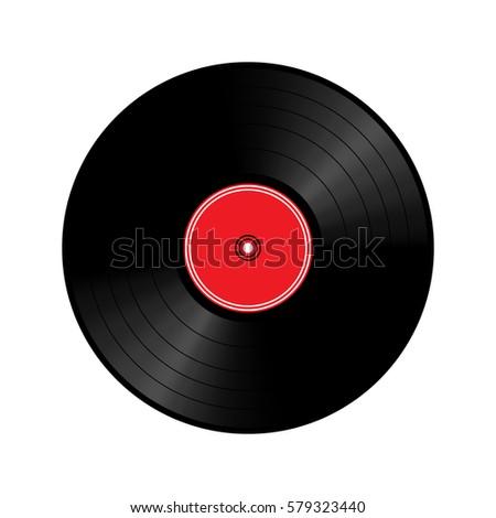 Vinyl record, Vector illustration