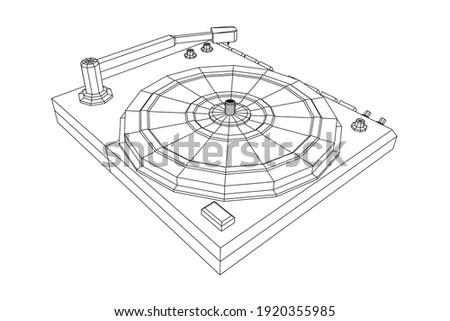 vinyl turntable audio device