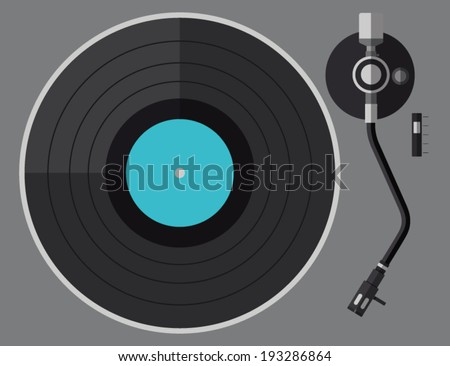 vinyl turntable  flat design