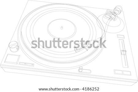 Vinyl Turntable (Vector)