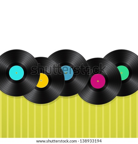 vinyls green background