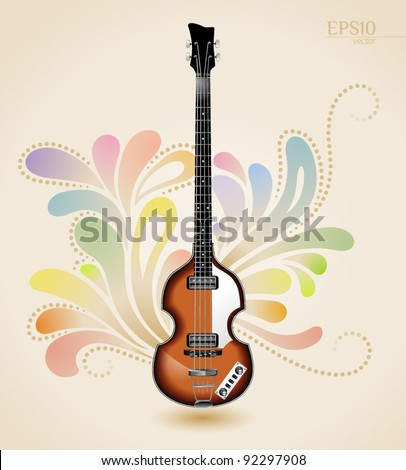 viola electrical bass guitar