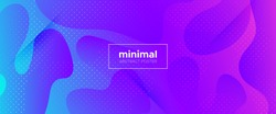 Violet Abstract Shapes. Gradient Background. Minimal Concept. Pink Wave Brochure. 3d Fluid Banner. Purple Movement Illustration. Neon Minimal Pattern. Blue Flow Brochure. Geometric Background.
