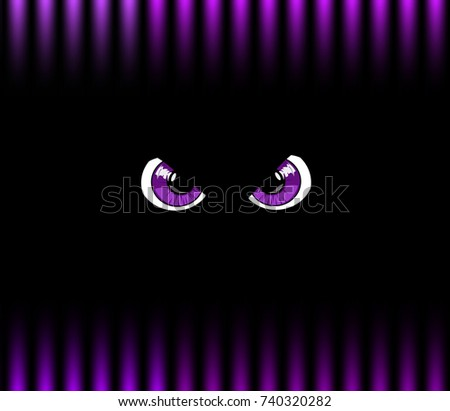 violet angry monster eyes on