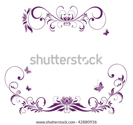 Lavender Flowers on Violet Floral Border Stock Vector 42880936   Shutterstock