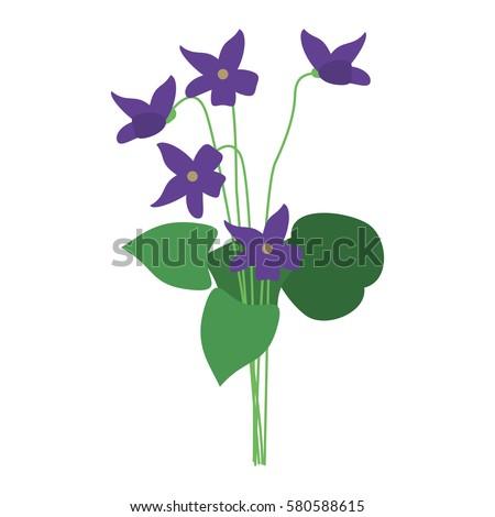 violet flower nature spring icon