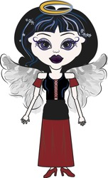 Violet is a fun character illustration of a Gothic Angel