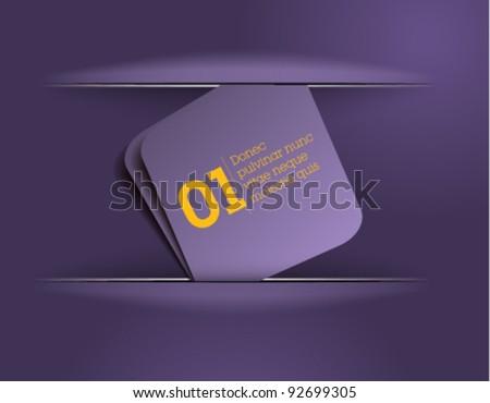 violet message card / vector / clean template design