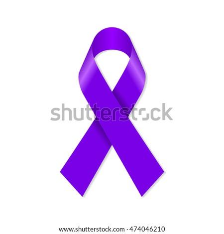 violet purple awareness ribbon...