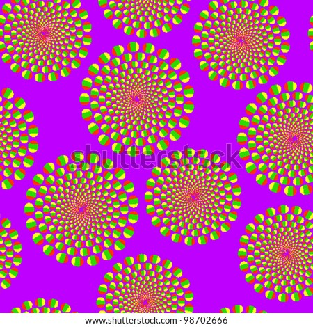 Violet seamless background with optical illusion of movement