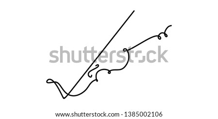 violin continuous one line