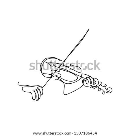 violin continuous single line