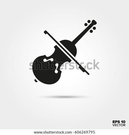 violin icon musical instrument