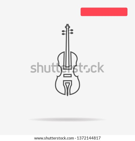 Violin icon. Vector concept illustration for design. Stock fotó ©