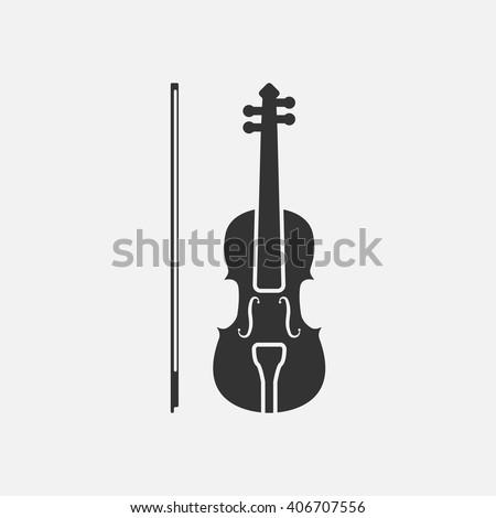 violin icon vector  solid