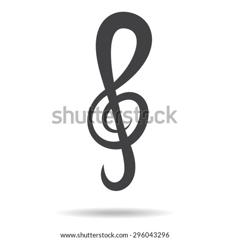Violin Key Sign Vector Music Symbol Black Ez Canvas