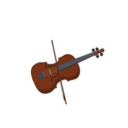 Violin. Musical instrument, vector illustration