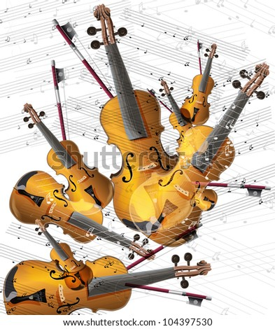 violin musical instrument (vector image)