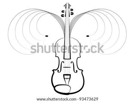 Violin symbol of classical music concerts, pleasant vibration in air