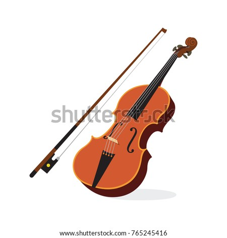 Violin. Vector illustration of a violin isolated on white. Сток-фото ©
