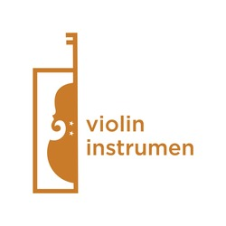 Violin Viola Fiddle Cello bass music instrument logo design inspiration