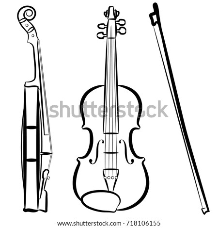 Free Png Download Violin & Bow Png Images Background - Музыкальные Картинки  Для Презентации Clipart (#990477) - PikPng