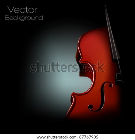 violoncello vector background - stock vector