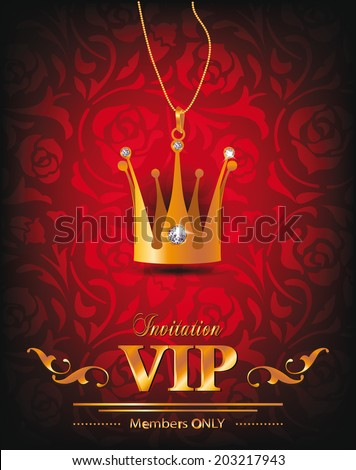vip background with gold crown