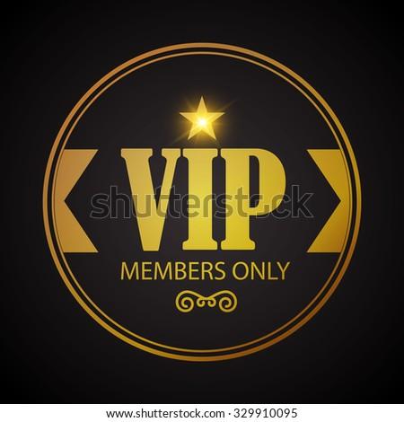 vip badge template vector illustration ez canvas