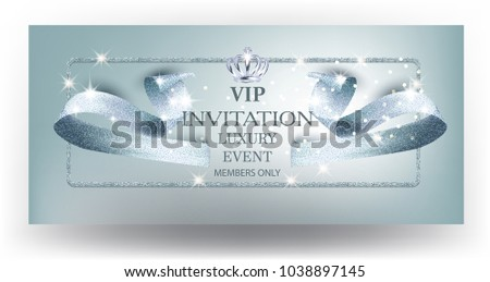 Carto com fita download vetores e grficos gratuitos vip blue beautiful invitation card with curly textured ribbon and crown vector illustration stopboris Image collections