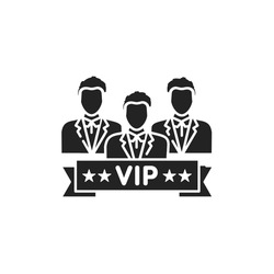 Vip club glyph black icon. Exclusive membership. Sign for web page, mobile app, button, logo. Vector isolated button.
