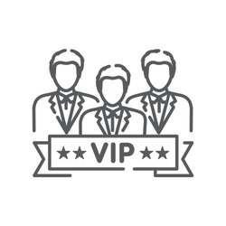 Vip club line black icon. Exclusive membership. Sign for web page, mobile app, button, logo. Vector isolated button.