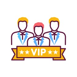 Vip club line color icon. Exclusive membership. Sign for web page, mobile app, button, logo. Vector isolated button. Editable stroke.