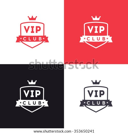 vip club sign logo icon design