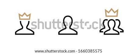 VIP Customer User icon vector. Person Profile Symbol. Avatar Sign. Editable stroke vector Photo stock ©