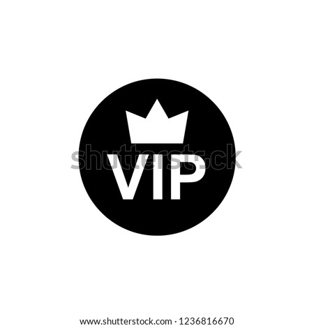 VIP ICON. Priority Sign and Symbol on Glyph & Flat Style Vector Illustration.
