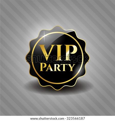 VIP Party black emblem or badge, modern style