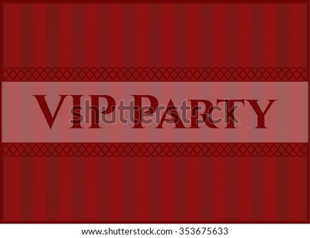 VIP Party card, colorful, nice design