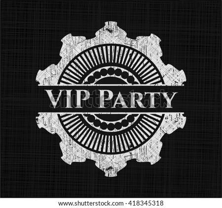 VIP Party chalk emblem