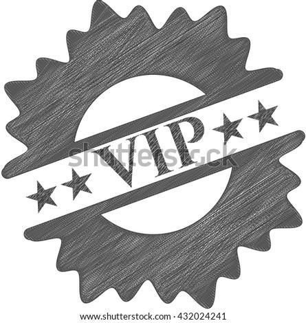 VIP pencil emblem