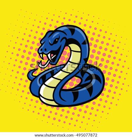viper snake pop art style