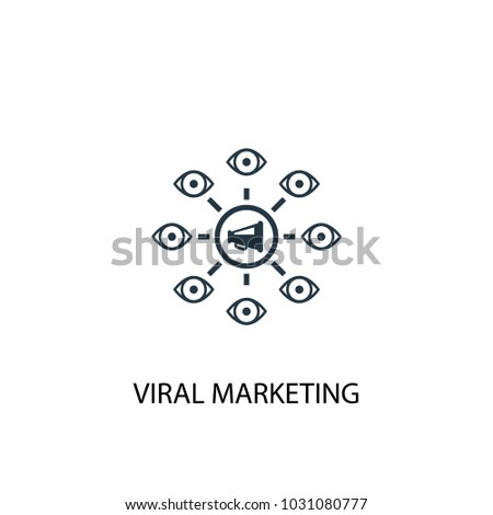 viral marketing icon. Simple element illustration. viral marketing symbol design from online business collection. Can be used for web and mobile.