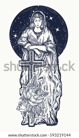 virgin mary tattoo art symbol