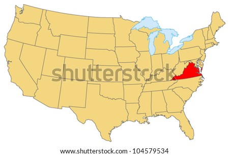 Virginia Locate Map