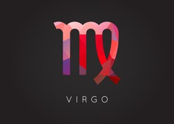 Virgo Constellation. Detailed Stylish Zodiac Icon. Modern Style Drawing. Vector Illustration.