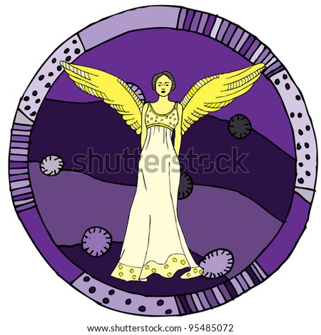 Virgo horoscope sign vectorized hand draw