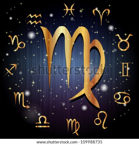 Virgo symbol - stock vector