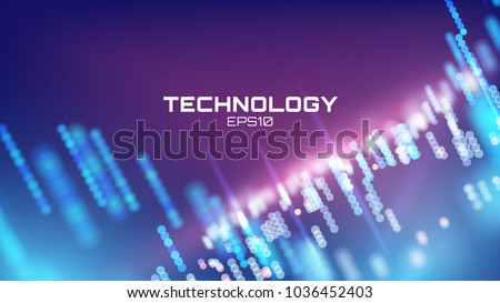 Virtual cyberspace tehcnology background. Cyber hud tech. Futurisic interface