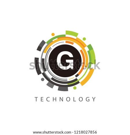 Virtual Data G Letter Logo