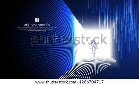 Virtual humans walking in the strange light.